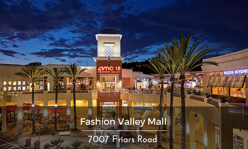 Fashion Valley Mall Location