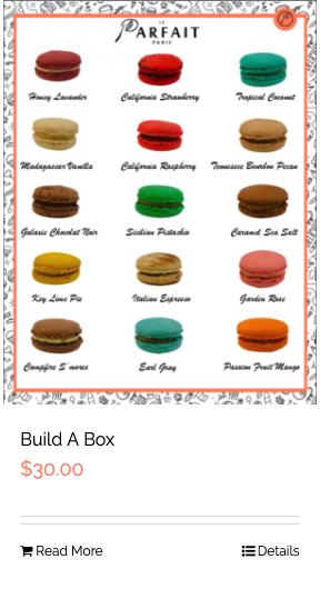 Le Parfait Paris Online e-Commerce Macaron Flavors