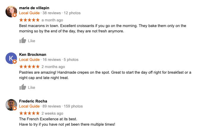 Online Google Reviews